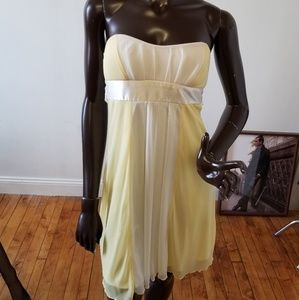 Lovely yellow chiffon dress